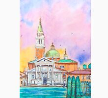 Venice. Isle of San Giorgio Maggiore. Andrea Palladio architecture. watercolor T-Shirt