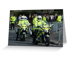 Police riders Greeting Card