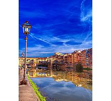 The arno river florence Photographic Print