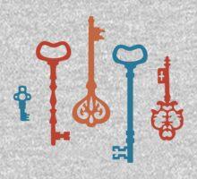 Pumpkin Keys One Piece - Long Sleeve