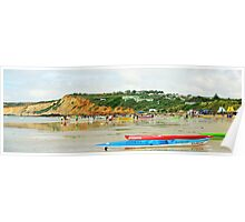 Anglesea surf carnival, long view Poster
