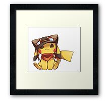 Pikachu Explore World Framed Print