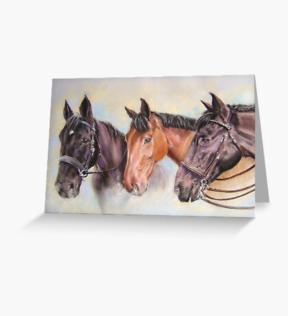 Robinsons' horses Greeting Card
