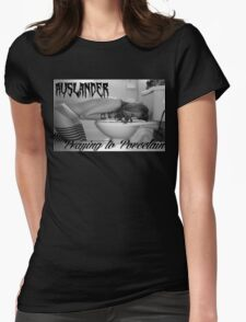praying to porcelain Womens Fitted T-Shirt