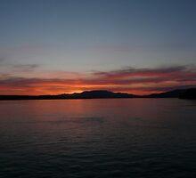 Quadra Island Ferry Veiw by Marie Gerrow
