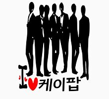 I Heart KPOP in Korean language Women's Fitted V-Neck T-Shirt