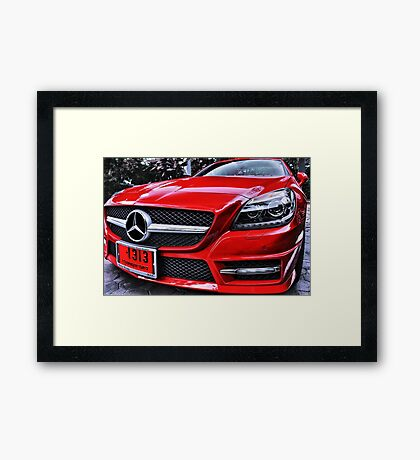 MERCEDES BENZ Front_red Framed Print