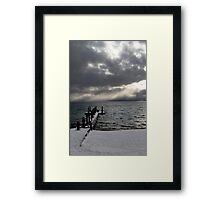 Tahoe Snowstorm Framed Print