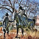 Charles and Juana Barnard Statue by Susan Russell