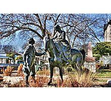 Charles and Juana Barnard Statue Photographic Print