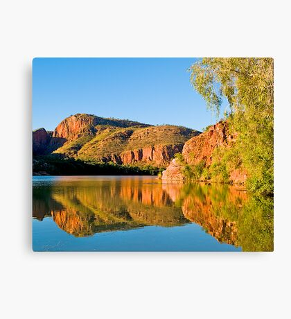 Cliffs, Argyle River, Kununurra. Kimberley. WA. Canvas Print