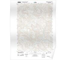 USGS Topo Map Oregon Harrington Creek 20110824 TM Poster