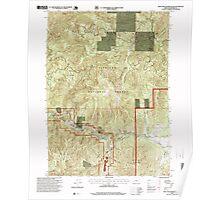USGS Topo Map Oregon Eight Dollar Mountain 279768 1996 24000 Poster