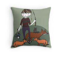 Boys Day Out Throw Pillow