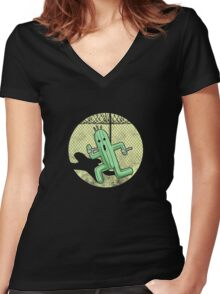 Escape from Cactuar Island- Final Fantasy Parody Women's Fitted V-Neck T-Shirt