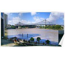 Brisbane River in Flood  Poster