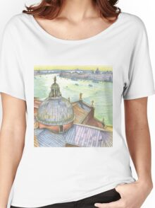 VENICE. View to Grand Canal from Basilica Di San Giorgio Maggiore.  Women's Relaxed Fit T-Shirt