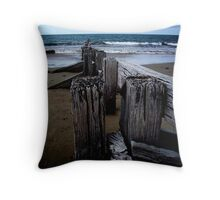 Beach, Victor Harbor Throw Pillow