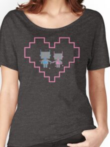 Robot Love Blossoms Women's Relaxed Fit T-Shirt