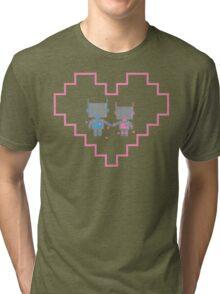 Robot Love Blossoms Tri-blend T-Shirt