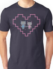 Robot Love Blossoms Unisex T-Shirt