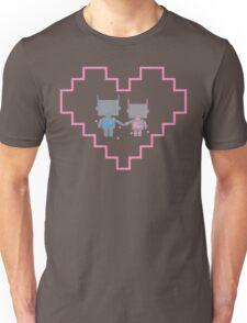 Robot Love Blossoms Unisex T-Shirt