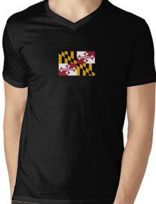Maryland USA State Flag Baltimore Annapolis Duvet Cover T-Shirt Sticker Mens V-Neck T-Shirt