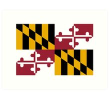 Maryland USA State Flag Baltimore Annapolis Duvet Cover T-Shirt Sticker Art Print