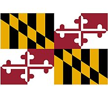 Maryland USA State Flag Baltimore Annapolis Duvet Cover T-Shirt Sticker Photographic Print