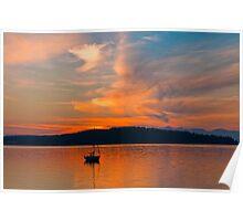 Sundown On Puget Sound Poster