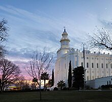 St. George Temple - January Sunset by Ryan Houston