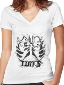 Florence and The Machine - Lungs Women's Fitted V-Neck T-Shirt