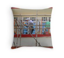Singapore - Bamboo scaffold Throw Pillow