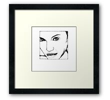 Angelina Scribbler Framed Print