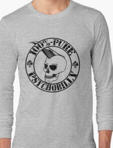 Pure Psychobilly - Black Stamp Long Sleeve T-Shirt