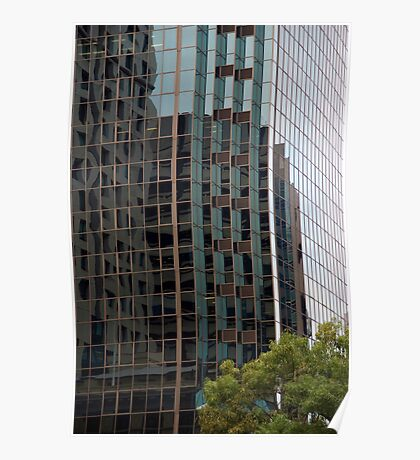 Patterns - Office building reflection Poster