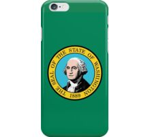 Washington State Flag USA Seattle Bedspread T-Shirt Sticker iPhone Case/Skin
