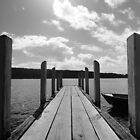Jetty in black & white by Samantha  Goode