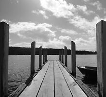 Jetty in black & white by Of Land & Ocean - Samantha Goode