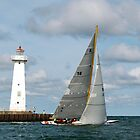 Sailing past the Sodus Point Light by wolftinz