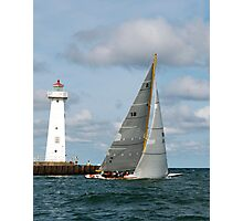 Sailing past the Sodus Point Light Photographic Print