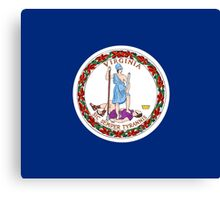 Virginia USA State Richmond Flag Bedspread T-Shirt Sticker Canvas Print