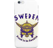Proud To Be Swedish iPhone Case/Skin
