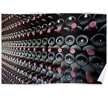 Old wine bottles, Bodega Rubicón, Lanzarote Poster