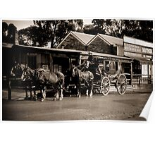 Horse and Cart at Sovereign Hill Poster