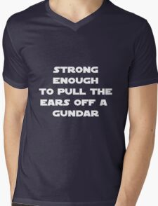 Pull the ears off a gundar Mens V-Neck T-Shirt
