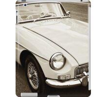 White convertible MG iPad Case/Skin
