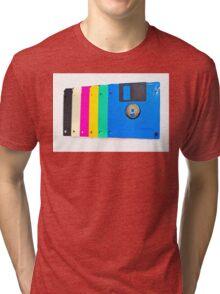 Colorful floppy discs Tri-blend T-Shirt