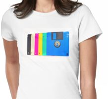 Colorful floppy discs Womens Fitted T-Shirt