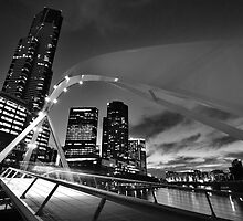 Rainbow Bridge and Eureka Tower [Black & White Version] by radityopradipto